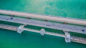 Pont d'histoire d'amour de Sarasin en île de Phuket Photographie stock libre de droits