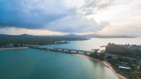 Pont d'histoire d'amour de Sarasin en île de Phuket Image stock