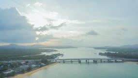 Pont d'histoire d'amour de Sarasin en île de Phuket Photographie stock