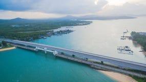 Pont d'histoire d'amour de Sarasin en île de Phuket Photos libres de droits