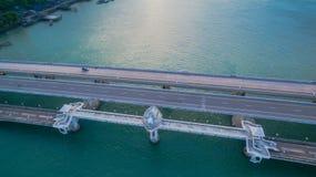 Pont d'histoire d'amour de Sarasin en île de Phuket Photos stock