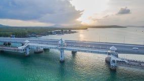 Pont d'histoire d'amour de Sarasin en île de Phuket Images stock