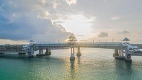 Pont d'histoire d'amour de Sarasin en île de Phuket Photo stock