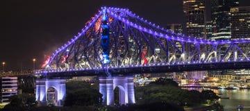 Pont d'histoire les nouvelles années Ève 2016 à Brisbane Images stock