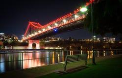 Pont d'histoire vu de dessous, Brisbane, Australie Image libre de droits