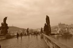 Pont d'hiver Photographie stock libre de droits