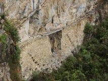 Pont d'Inca dans Machu Picchu, Pérou photos stock