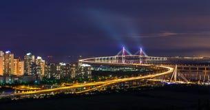 Pont d'Inchon, Corée du Sud Photographie stock libre de droits