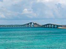 Pont d'Irabu en Miyako Island Images libres de droits
