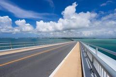 Pont d'Irabu en Miyako Island Photo libre de droits