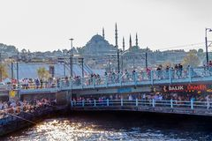 Pont d'Istanbul Galata Photographie stock