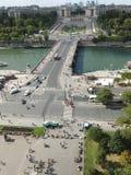 Pont d'Lena most w Paryż Obraz Stock