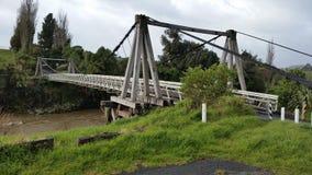 Pont d'oscillation de Taranaki Photo stock