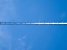 Pont d'oscillation vu de dessous Photographie stock