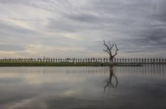 Pont d'Ubeng Photographie stock