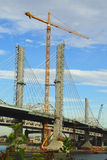 Pont 65 d'un état à un autre en construction Photographie stock libre de droits
