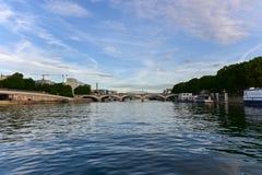 Pont d& x27; Austerlitz - Paris, Frankrike Arkivbilder