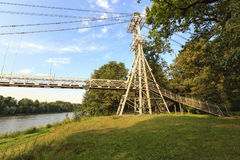 Pont dans la ville de mosty images libres de droits