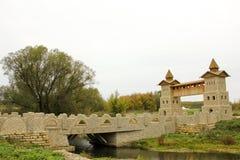 Pont dans le gora de Kudikina photos stock