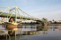Pont dans Liepaja, Lettonie Photos stock