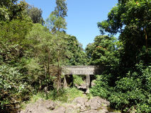 Pont dans Maui sur la route à Hana Photographie stock libre de droits