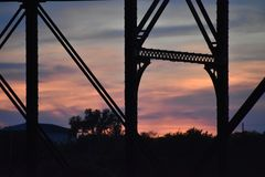 Pont dans Waco le Texas en mai 2018 photo stock