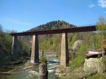 Pont dans Yaremche Photos stock