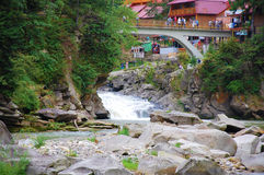 Pont dans Yaremche Image libre de droits