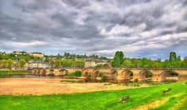 Pont de希农,在维埃纳的一座桥梁在希农,法国 图库摄影
