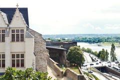 Pont de Λα Basse-Chaine στον ποταμό Λα Μαίην, Angers Στοκ Φωτογραφίες