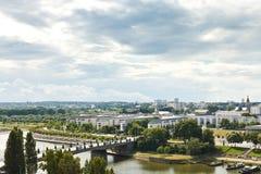Pont de Λα Basse-Chaine στον ποταμό Λα Μαίην, Angers Στοκ φωτογραφία με δικαίωμα ελεύθερης χρήσης