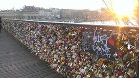 Pont de искусство Париж стоковая фотография rf