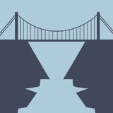 Pont de bâtiment entre les esprits Image stock