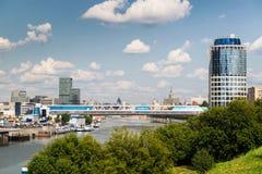Pont de Bagration à Moscou, Russie Images stock