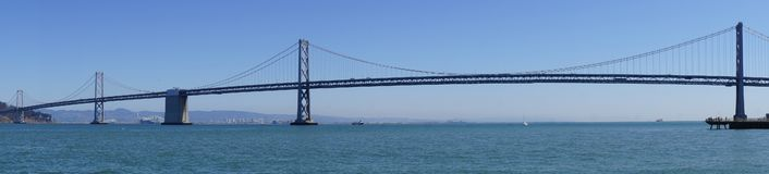 Pont de baie à San Francisco vers Oakland photographie stock libre de droits