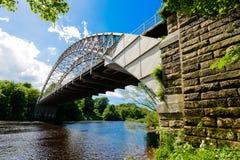 Pont de banque de Hagg Images stock