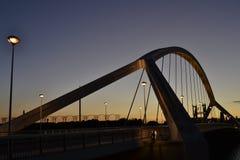 Pont de Barqueta s en Séville Photos libres de droits
