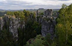 Pont de Bastei, parc national de Saxon Suisse Image stock
