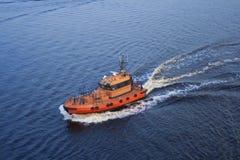 Pont de bateau de sauvetage maritime Image stock