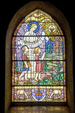 Pont-de-Beauvoisin - Stained glass Royalty Free Stock Images