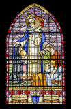 Pont-de-Beauvoisin - Stained glass Stock Photography