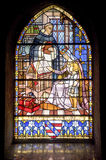 Pont-de-Beauvoisin - Stained glass Royalty Free Stock Photo