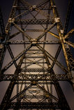Pont de Bellaire - la rivière Ohio Images libres de droits