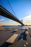 Pont de Ben Franklin à Philadelphie Photos stock