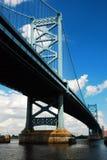 Pont de Ben Franklin, Philadelphie photo libre de droits
