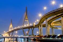 Pont de Bhumibol Images libres de droits