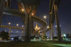 Pont de Bhumibol en Thaïlande Image libre de droits