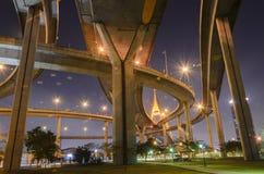 Pont de Bhumibol en Thaïlande Images libres de droits