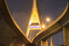 Pont de Bhumibol en Thaïlande Photo stock