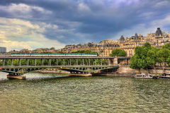 Pont de Bir-Hakeim bridge. Paris, France. Royalty Free Stock Images